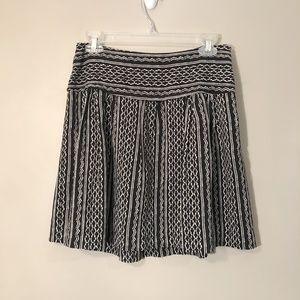 Madewell | 100% Silk Pattern Skirt Sz 2